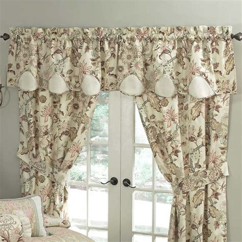 waverly curtains and valances waverly graceful garden scalloped 60 quot curtain valance