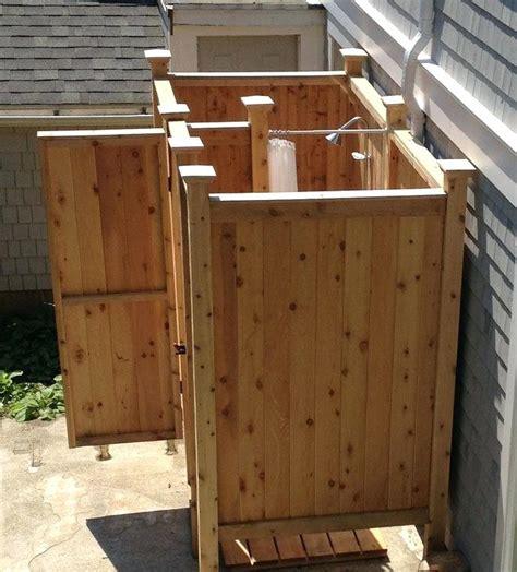 diy outdoor shower enclosure outdoor shower kitoutside enclosures cape cod enclosure