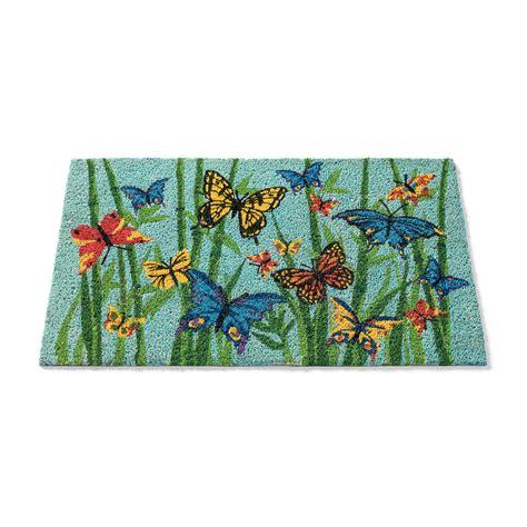 Butterfly Doormat - butterfly coir doormat gump s