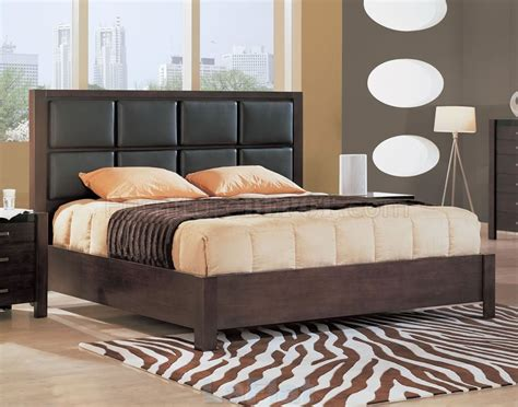 bedroom set with leather headboard 5 piece wenge bedroom set with leather upholstered headboard