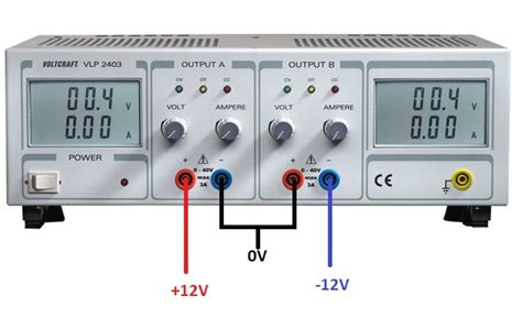 dual bench power supply voltage dual polarity 12v from a bench power supply electrical engineering