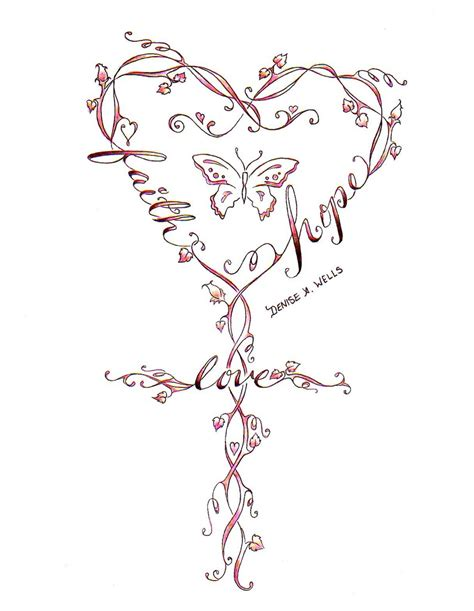 unique cross tattoo designs faith and viner flowers cross design