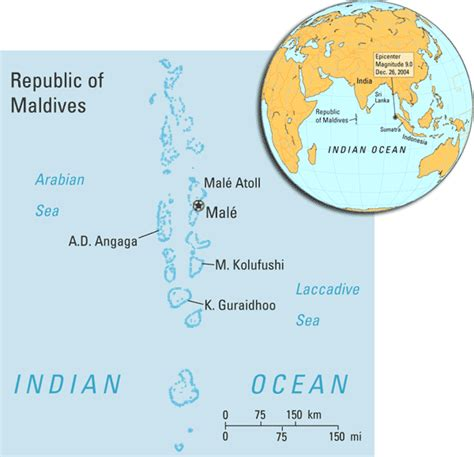 the maldives world map assessing tsunami impacts in the republic of maldives