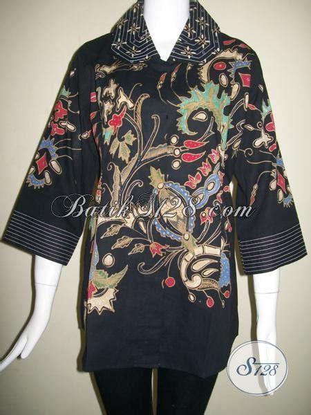 Baju Batik Hitam pakaian batik wanita modern baju batik kerja wanita baju batik warna hitam elegan bls852t xl