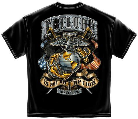Usmc Tshirt usmc failure is not an option black t shirt