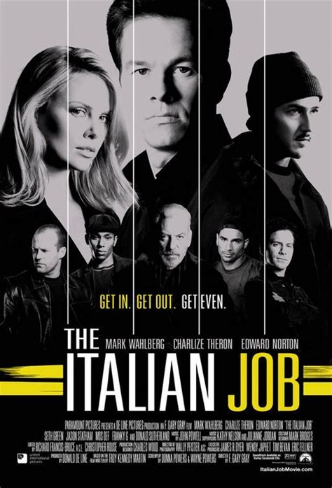 film jason statham donald sutherland the italian job 2003 italian mark wahlberg and donald