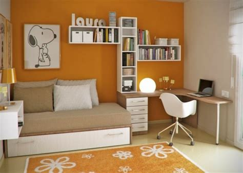 Formidable Chambre D Hotel Originale #5: chambre-orange-ado-coin-bureau.jpg