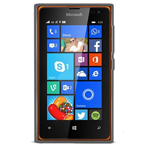 Microsoft Lumia 435 Black Smartphone orzly 174 flexicase for lumia 435 protective silicon gel phone in semi
