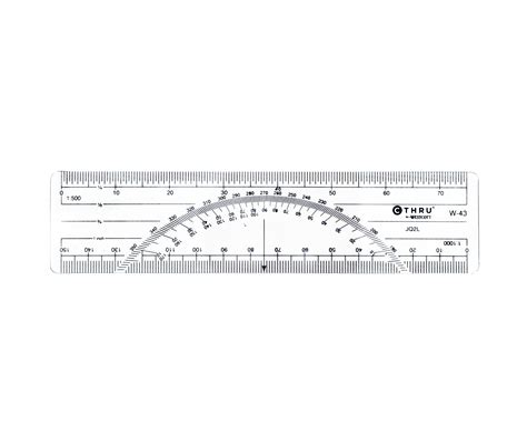 printable protractor with ruler westcott c thru metric protractor ruler 6 quot plastic rulers