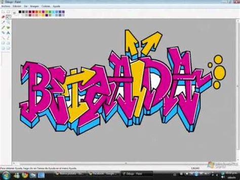 imagenes te amo berenice como hacer un graffiti te amo betzaida en paint youtube