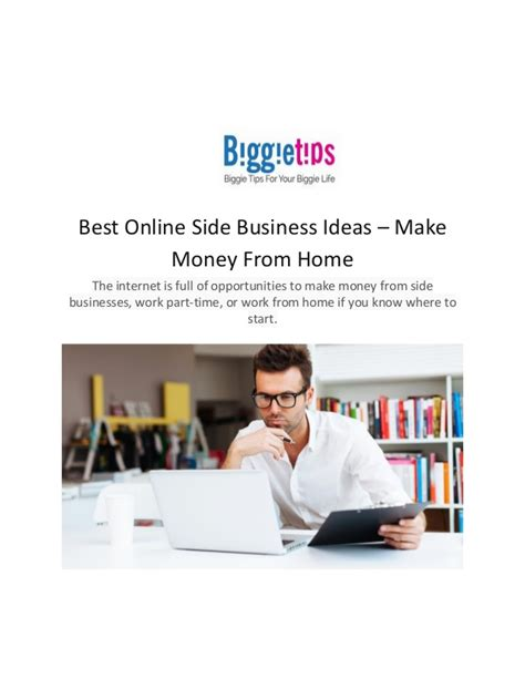 best side business ideas make money from home