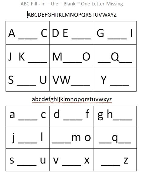 up letter fill in the blanks this alphabet fill in the blank sheet supports cognitive