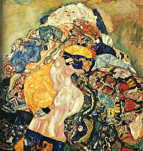 klimt la culla baby unfinished gustav klimt wallpaper image