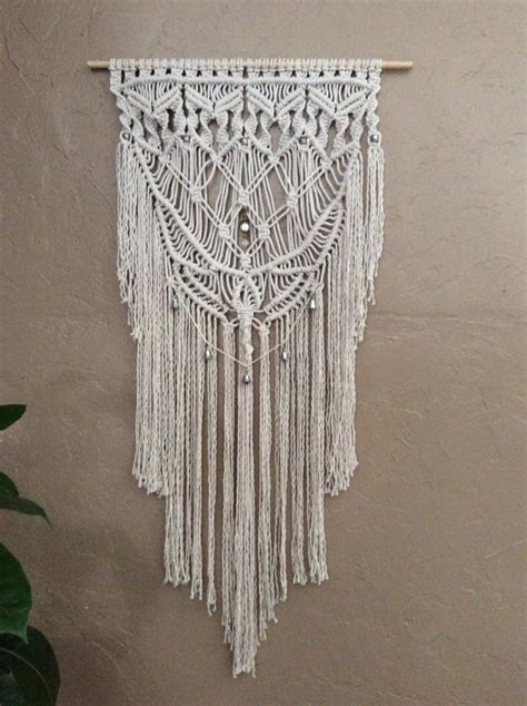 How To Macrame A Wall Hanging - macrame elegance large macrame wall hanging by