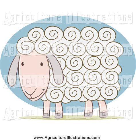 white curly haired agriculture clipart of a white curly haired sheep by qiun 205