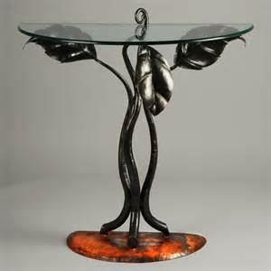 Half Circle Accent Table Half Leaf Table Eclectic Side Tables And End Tables New York By Spirit Ironworks