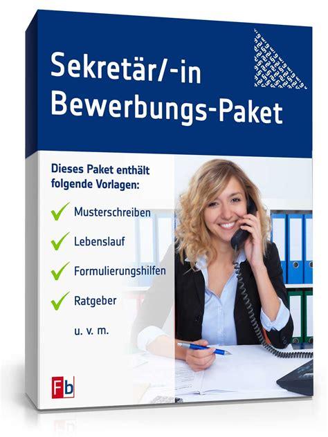 Musterbriefe Sekretariat Bewerbungs Paket Sekret 228 Rin Muster Zum