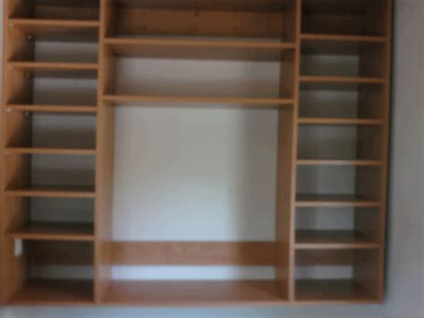custom wall storage system just closets