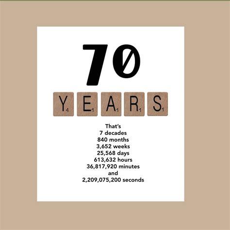 70th Birthday Quotes 70th Birthday Card Milestone Birthday Card The Big 70