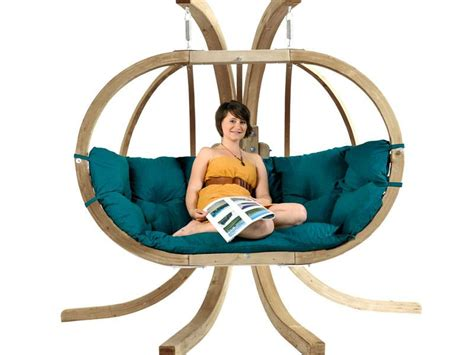 globo swing chair globo royal double wooden swing chair set in 3 colours