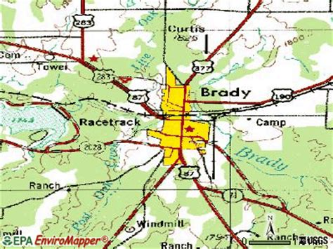 brady texas map brady texas road map images