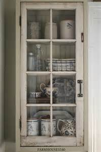 Country Kitchen Corner Cabinet - farmhouse 5540 a new cupboard with an old window