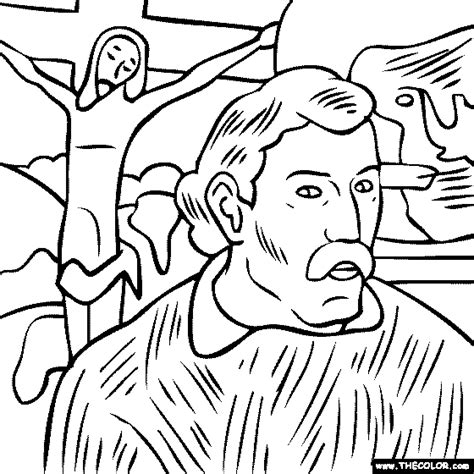 you self portrait coloring pages