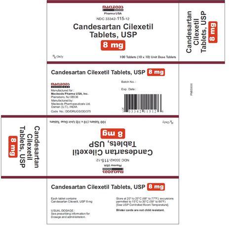 Candesartan Cilexetil 8 Mg 30 S dailymed candesartan candesartan tablet