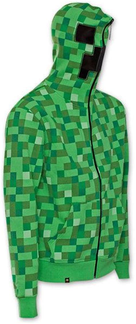 Vest Zipper Vest Rompi Minecraft Creeper minecraft premium zip through creeper hoodie mine craft hoody ages 5 14 ebay