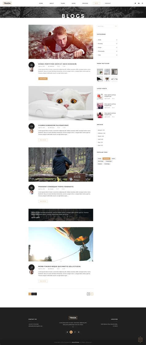 joomla category blog layout exle trada creative multipurpose joomla template by saihoai