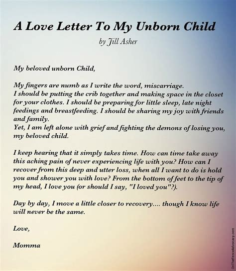 Letter to an unborn child