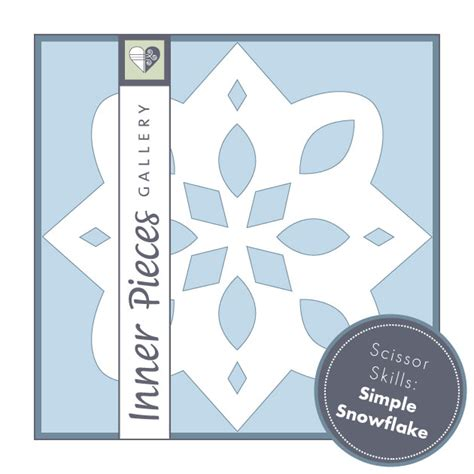 easy snowflake template simple snowflake template for inner pieces gallery