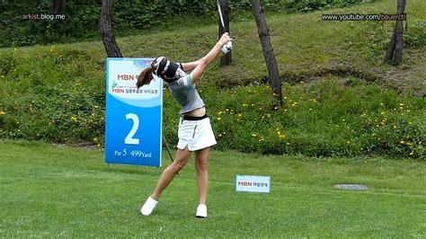 klpga swing slow hd ahn song yi driver golf swing klpga tour youtube