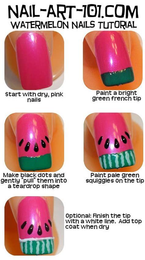 tutorial watermelon nail design watermelon nail art tutorial trusper