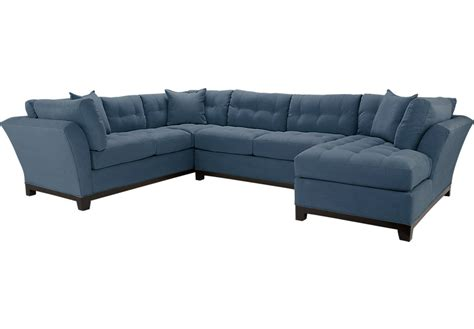 cindy crawford sectional couch cindy crawford metropolis indigo 3pc sectional