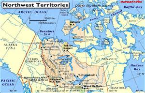 northwest territories canada map map of the northwest territories