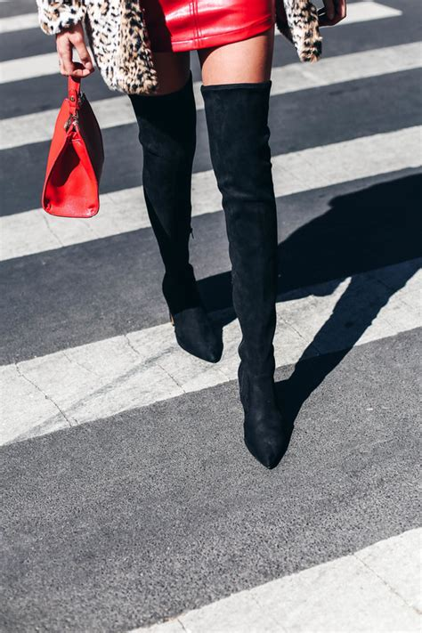 chic thigh high boots black suede boots vegan boots