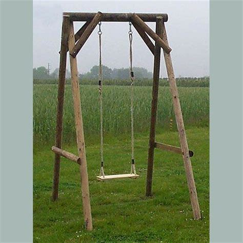 wood swing frame wooden garden single swing backyard pinterest