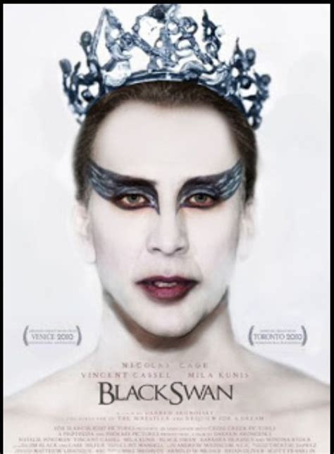 Black Swan Meme - nicolas cage as the black swan nicolas cage memes