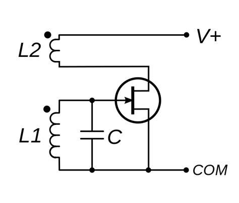 fet transistor oscillator file fet armstrong oscillator svg wikimedia commons