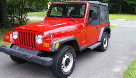 1999 Jeep Wrangler Soft Top Sell Used 1999 Jeep Wrangler Se 4x4 Soft Top Manual 4