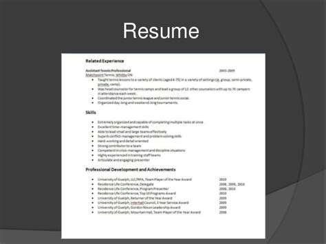 Transferable Skills Resume by Transferable Skills Slide Show