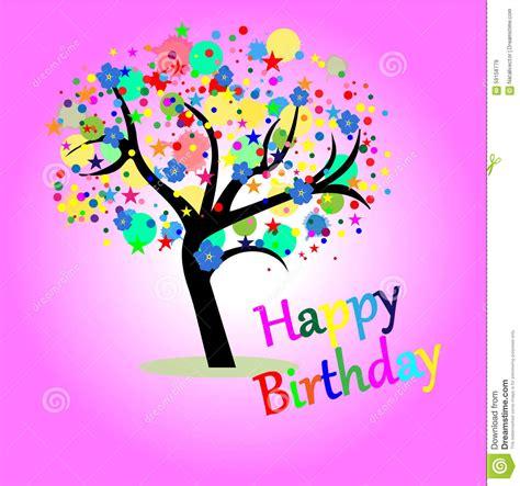 greeting card happy birthday stock vector image 59158779