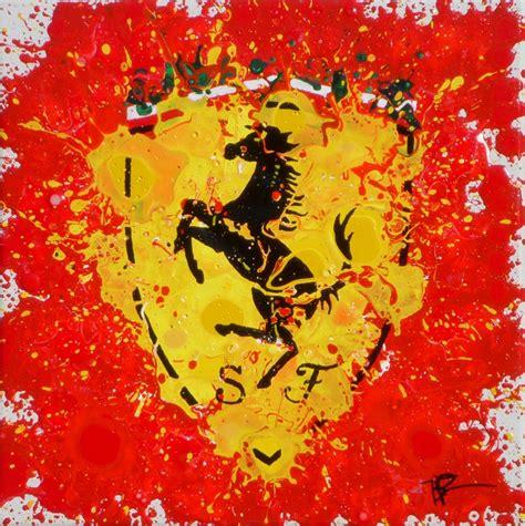 ferrari painting motorsports art timothy raines