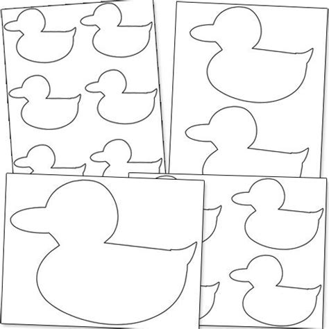 printable shapes for babies duck shape printable from printabletreats com baby