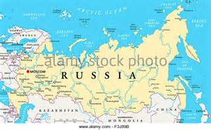 russia political map with cities russia map stock photos russia map stock images alamy