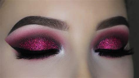 Eyeshadow No Glitter smokey burgundy glitter eye makeup tutorial