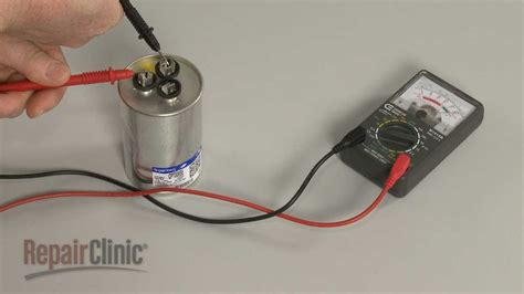 how to test an ac run capacitor motor or compressor won t run capacitor test troubleshooting