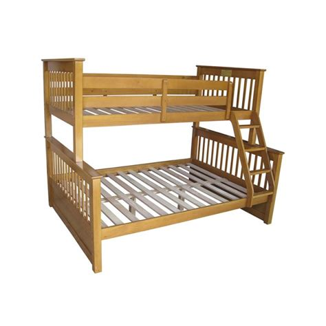 Sturdy Wood Bunk Beds Honey Wooden 3 Sleeper Bunk Bed Sturdy Including Free Understorage Ebay