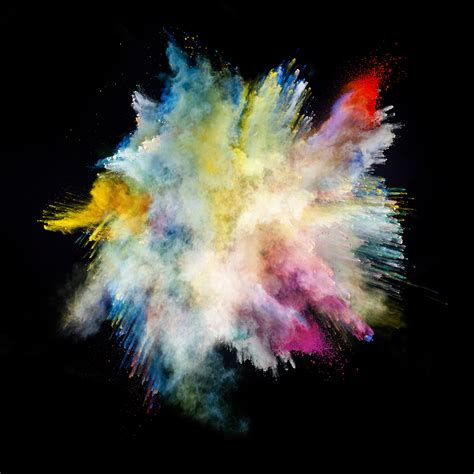 color powder explosion creating a compelling photo composite in adobe photoshop